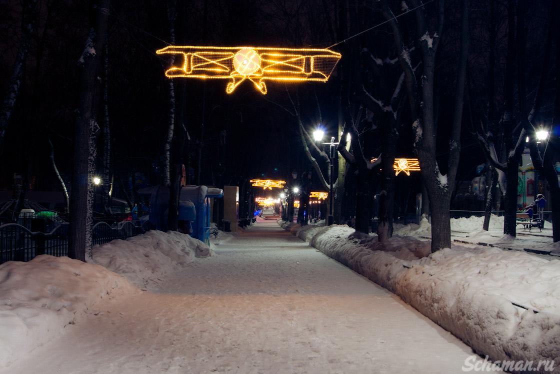 новогодние парки, бабушкинский парк, медведково, новогодние парки, гирлянда