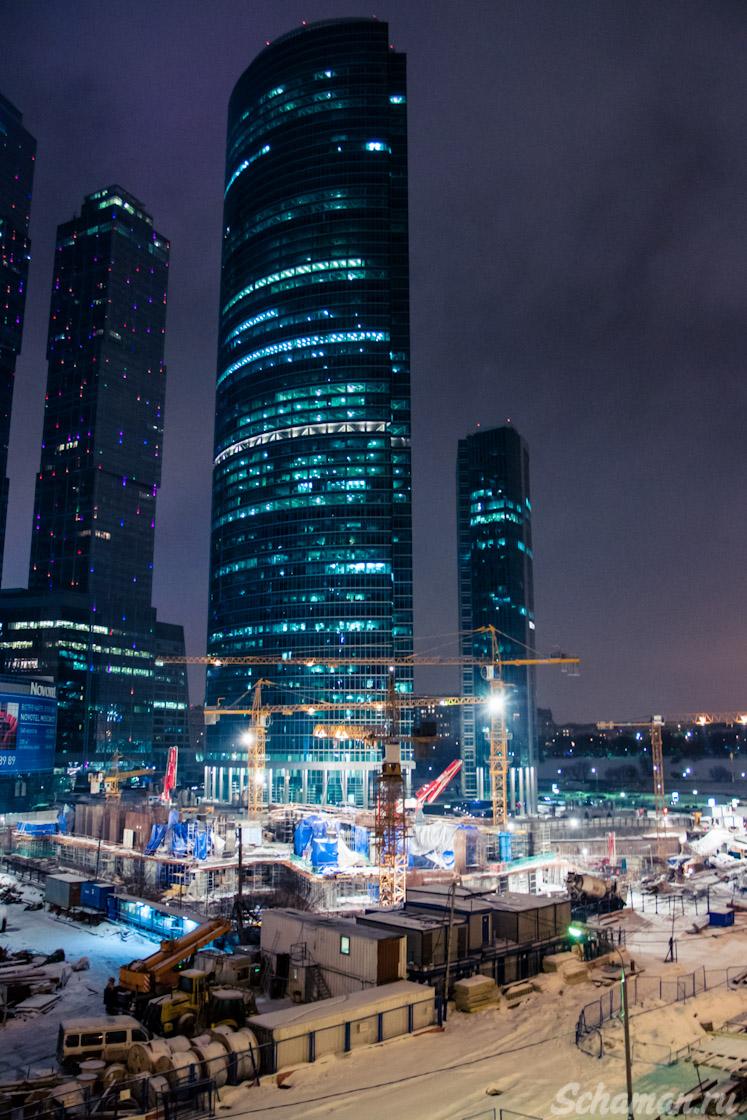 Москва, Сити, Ночной город, Достопримечательности москвы, ММДЦ