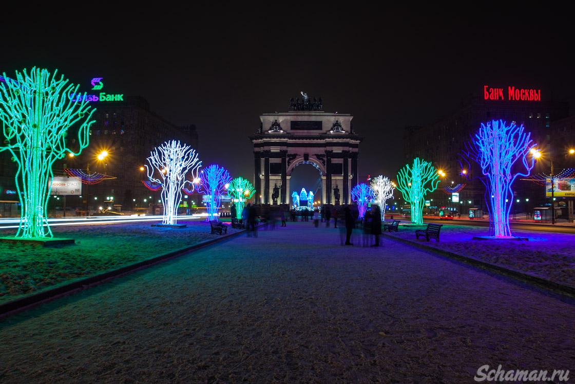 Москва, Площадь Победы, Новогодние украшения