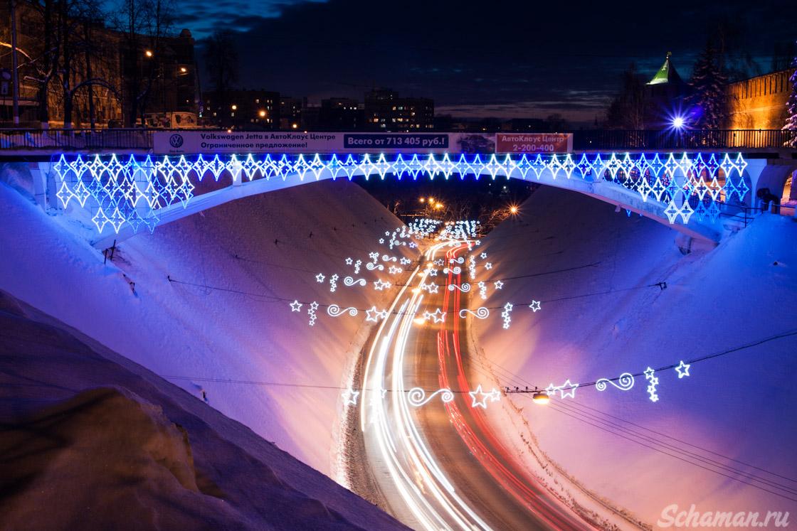 Ночной Нижний Новгород, ночная красота, достопримечательности