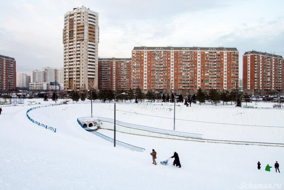 Дюссельдорфский парк, марьино, парк, парки, москва, зима