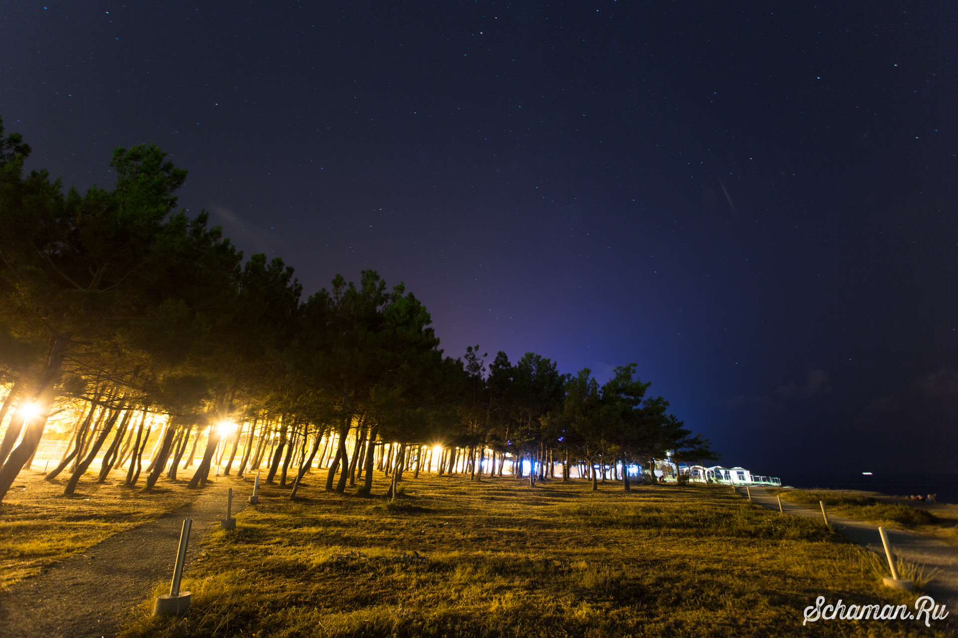 Звездное небо на море (Геленджик)