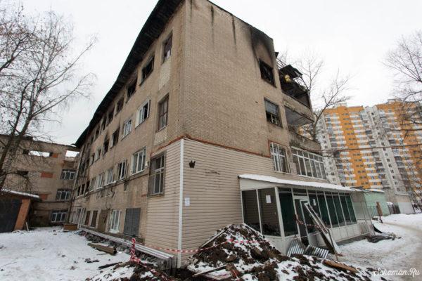 Последствия пожара по адресу ул. Дзержинского 24/2